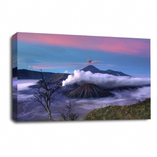 Landscape Mountain Canvas Art White Clouds Wall Picture Print